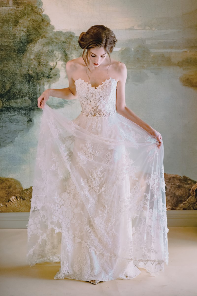 Anais Wedding Dress from the Claire Pettibone Timeless Bride 2019 Bridal Collection