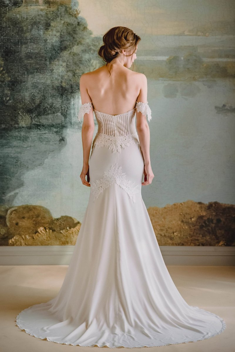 Back of Arabella Wedding Dress from the Claire Pettibone Timeless Bride 2019 Bridal Collection