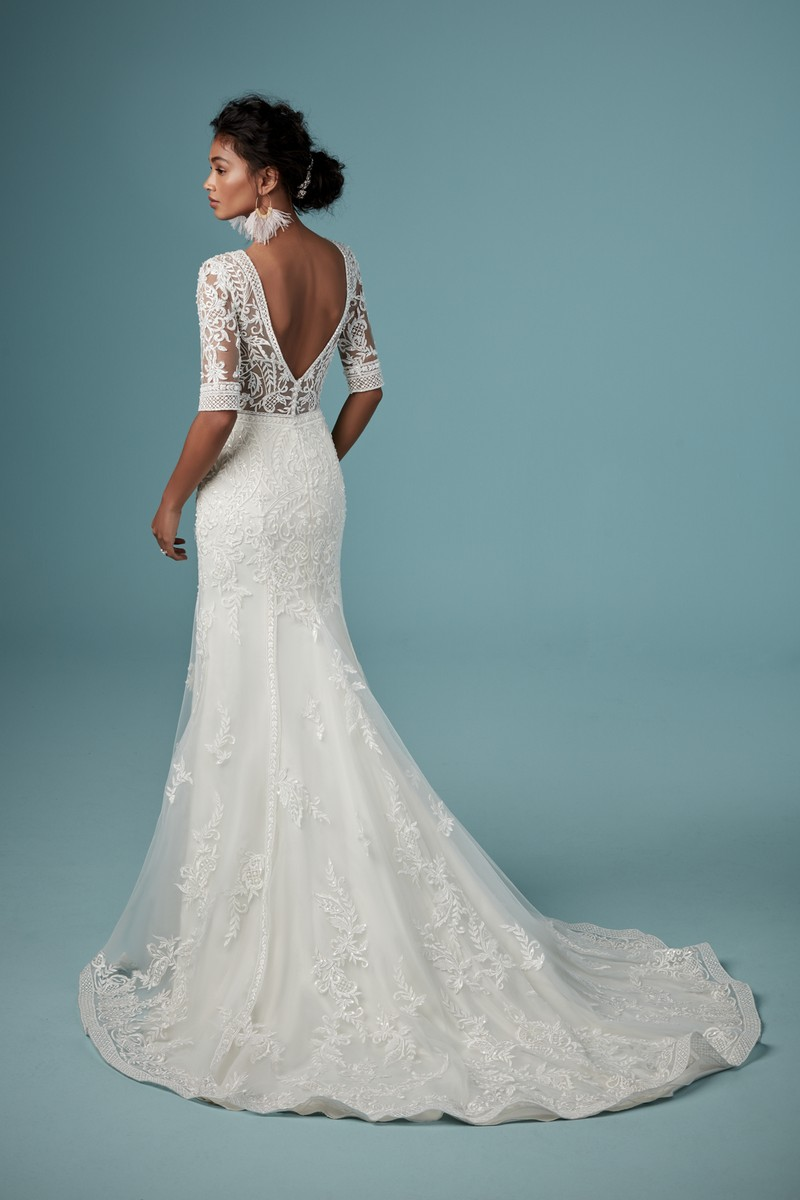 Back of Blake Wedding Dress from the Maggie Sottero Ambrose Fall 2019 Bridal Collection
