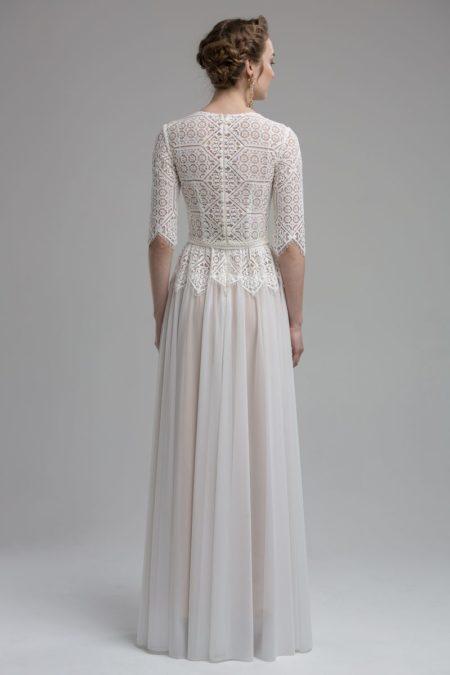 Back of Chelsea Wedding Dress from the KATYA KATYA Wanderlust 2018-2019 Bridal Collection