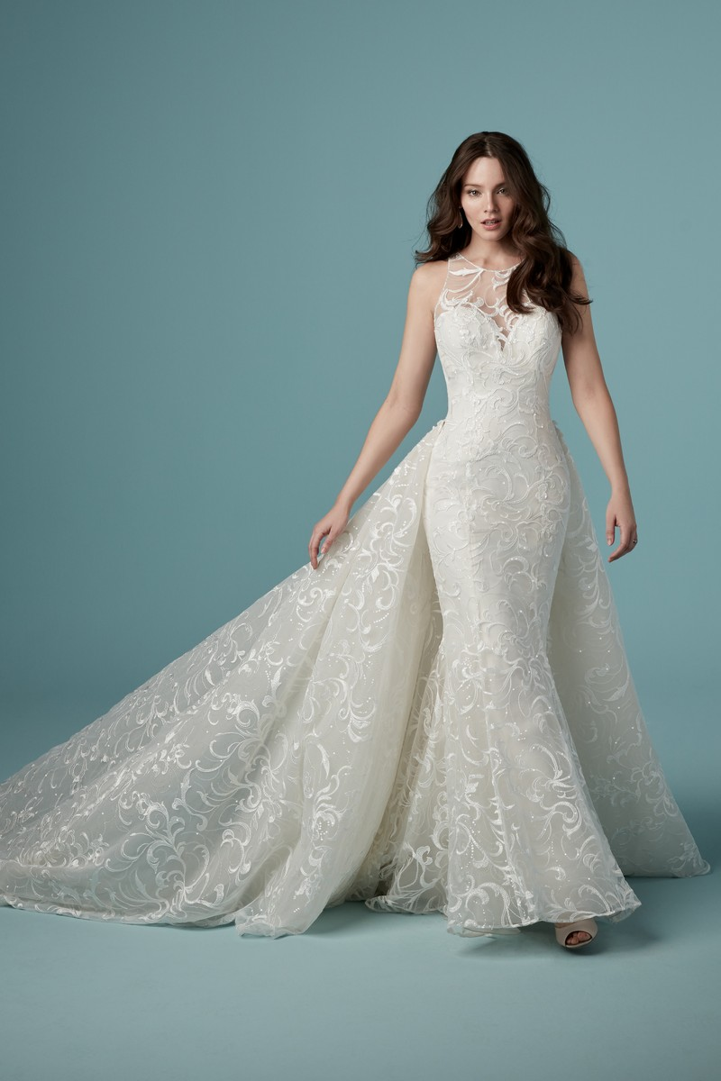 Colbie Wedding Dress with Detachable Train from the Maggie Sottero Ambrose Fall 2019 Bridal Collection