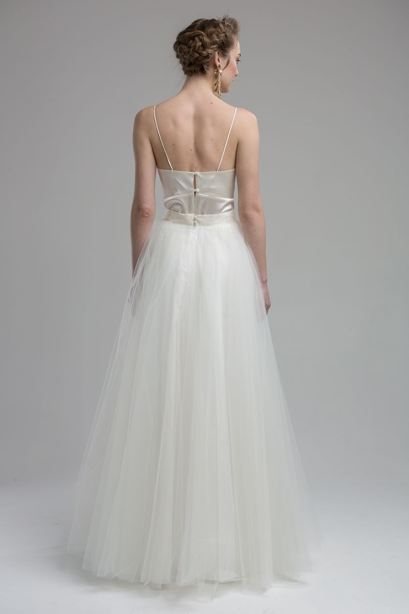 Back of Dale Top with Lana Skirt from the KATYA KATYA Wanderlust 2018-2019 Bridal Collection