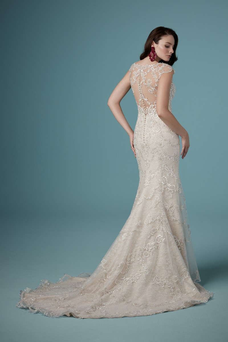 Back of Eileen Wedding Dress from the Maggie Sottero Ambrose Fall 2019 Bridal Collection
