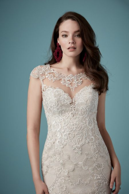 Detail on Eileen Wedding Dress from the Maggie Sottero Ambrose Fall 2019 Bridal Collection