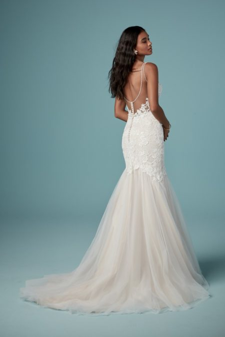 Back of Elvie Wedding Dress from the Maggie Sottero Ambrose Fall 2019 Bridal Collection