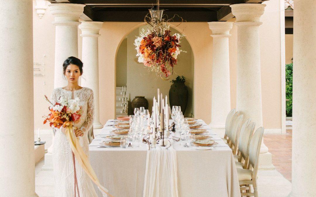 Elegant, Earthy Autumnal Wedding Styling