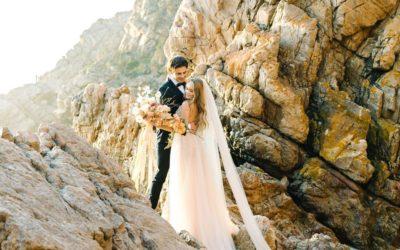 Romantic 'Rouille' Beach Wedding Styling