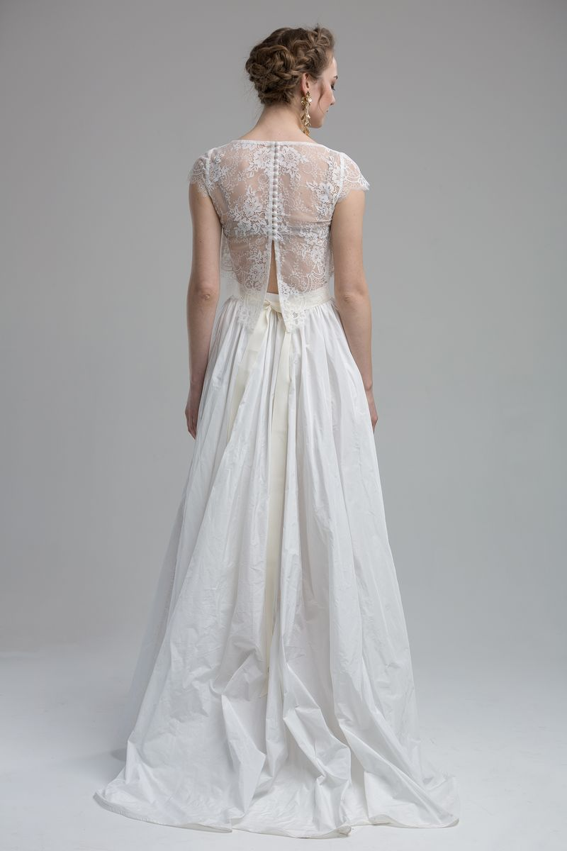 Back of Glenn Top with Afon Skirt from the KATYA KATYA Wanderlust 2018-2019 Bridal Collection