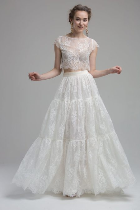 Glenn Top with Ocean Skirt from the KATYA KATYA Wanderlust 2018-2019 Bridal Collection