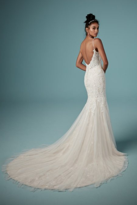 Back of Jessa Wedding Dress from the Maggie Sottero Ambrose Fall 2019 Bridal Collection