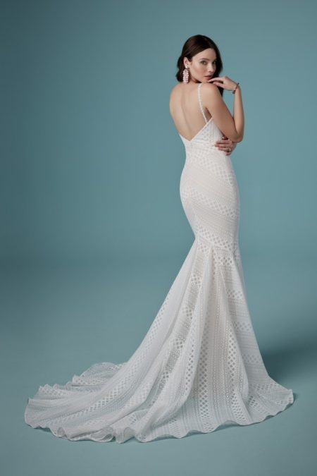 Back of Lilana Wedding Dress from the Maggie Sottero Ambrose Fall 2019 Bridal Collection