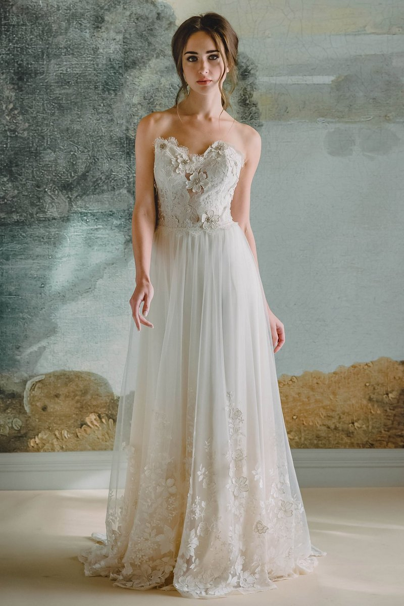 Lucinda Wedding Dress from the Claire Pettibone Timeless Bride 2019 Bridal Collection