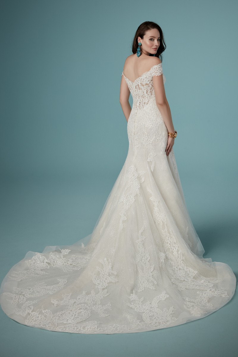 Back of Maeleigh Wedding Dress from the Maggie Sottero Ambrose Fall 2019 Bridal Collection