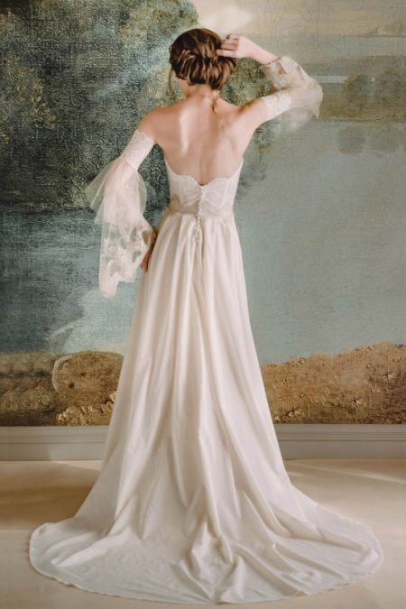 Back of Marie Wedding Dress from the Claire Pettibone Timeless Bride 2019 Bridal Collection