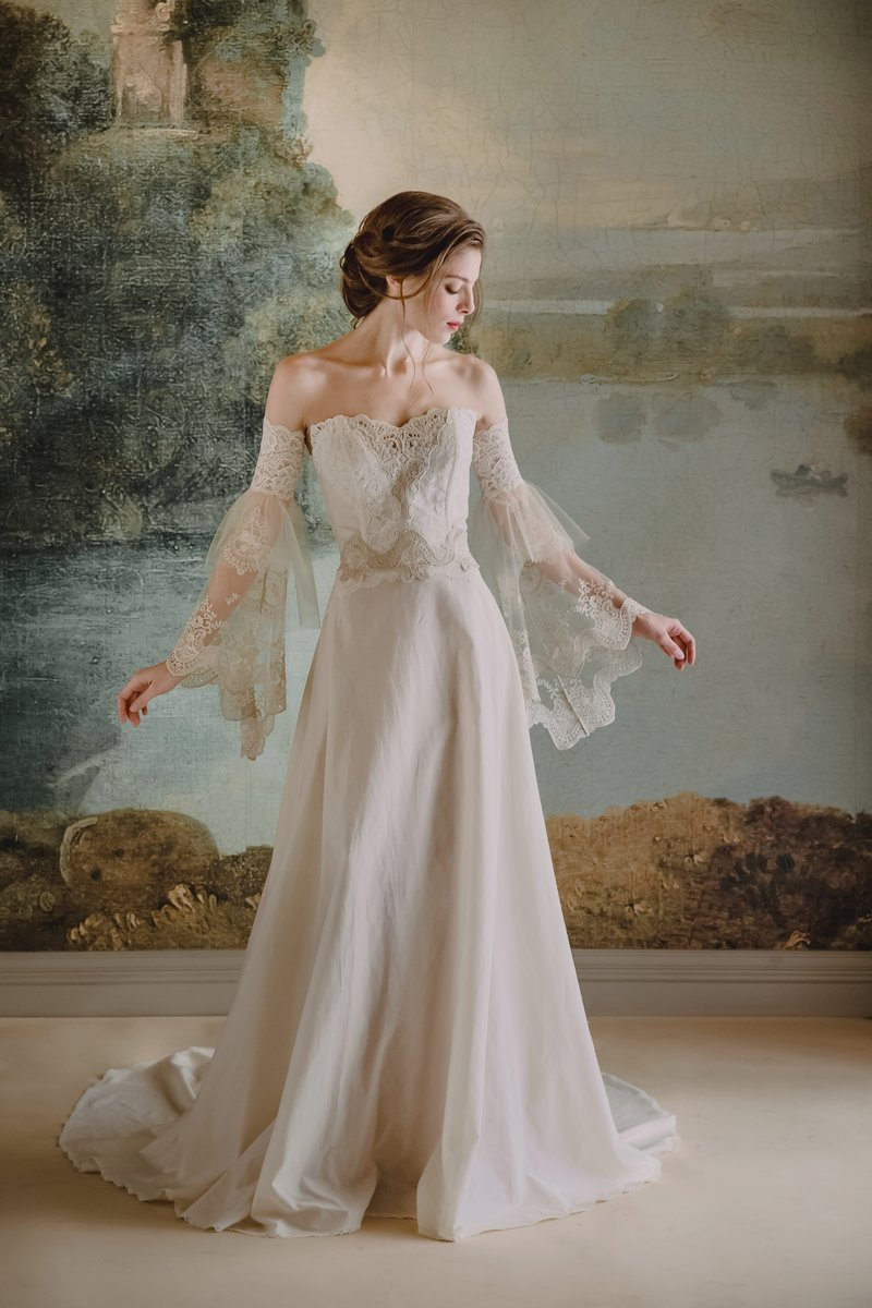 Marie Wedding Dress from the Claire Pettibone Timeless Bride 2019 Bridal Collection