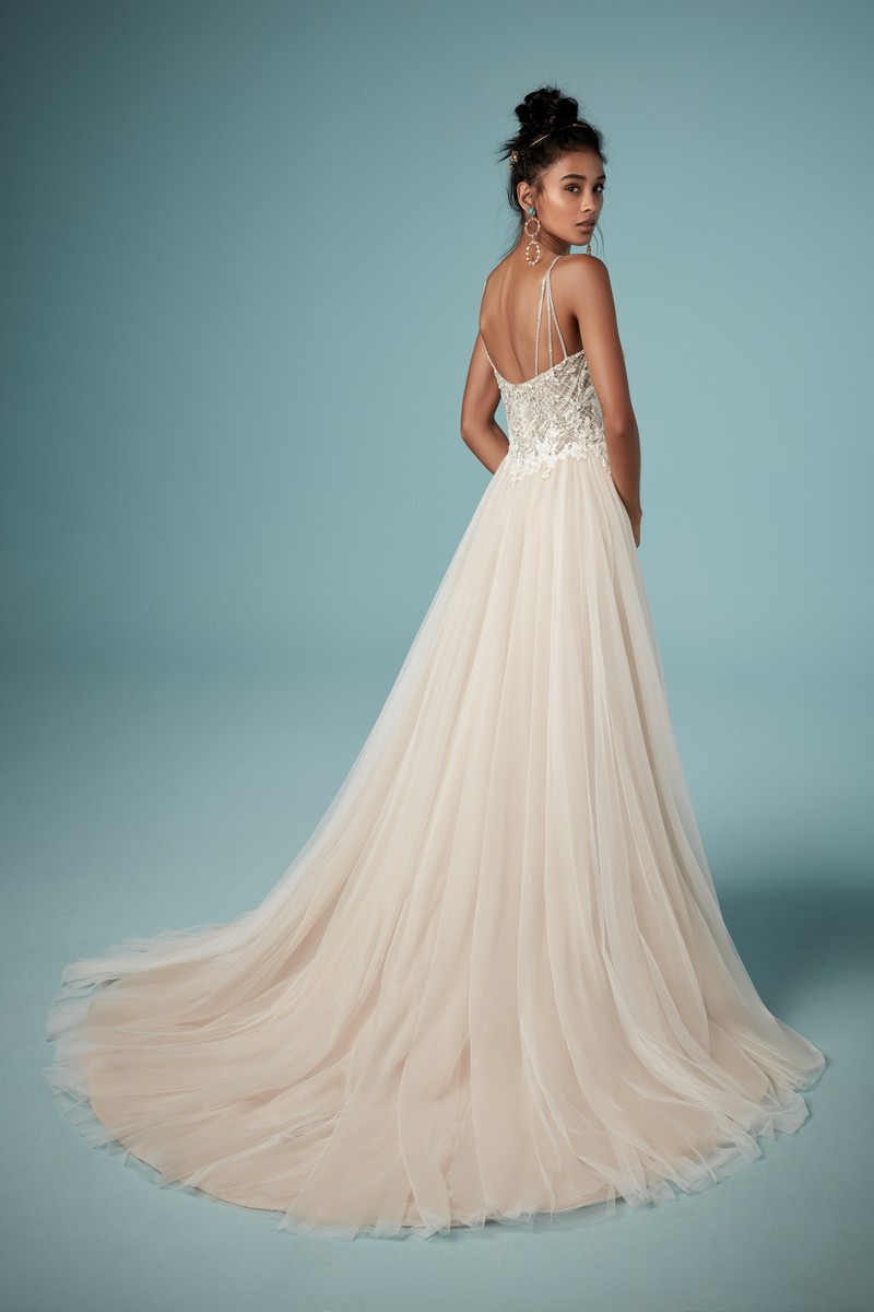 Back of Matilda Wedding Dress from the Maggie Sottero Ambrose Fall 2019 Bridal Collection