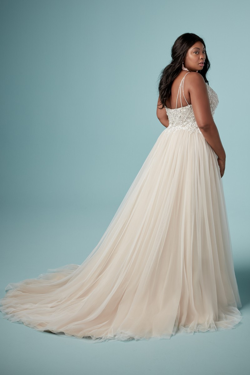 Back of Matilda Lynette Plus Size Wedding Dress from the Maggie Sottero Ambrose Fall 2019 Bridal Collection