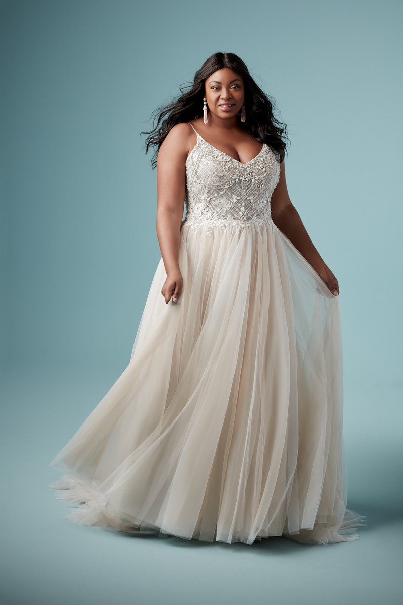Matilda Lynette Plus Size Wedding Dress from the Maggie Sottero Ambrose Fall 2019 Bridal Collection