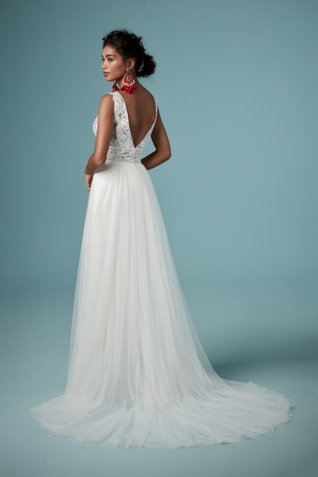 Back of Maureen Wedding Dress from the Maggie Sottero Ambrose Fall 2019 Bridal Collection