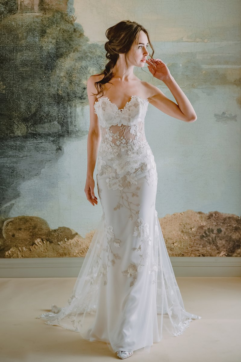 Odessa Wedding Dress from the Claire Pettibone Timeless Bride 2019 Bridal Collection