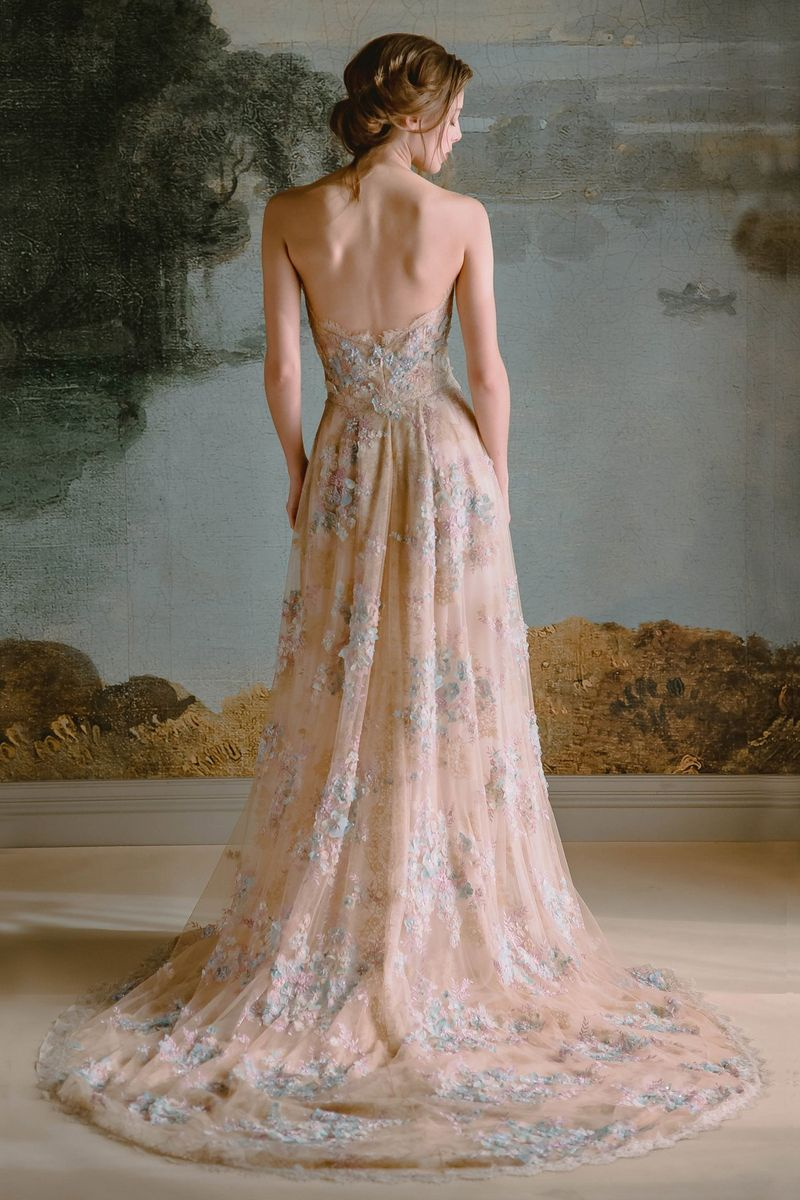 Back of Ophelia Wedding Dress from the Claire Pettibone Timeless Bride 2019 Bridal Collection