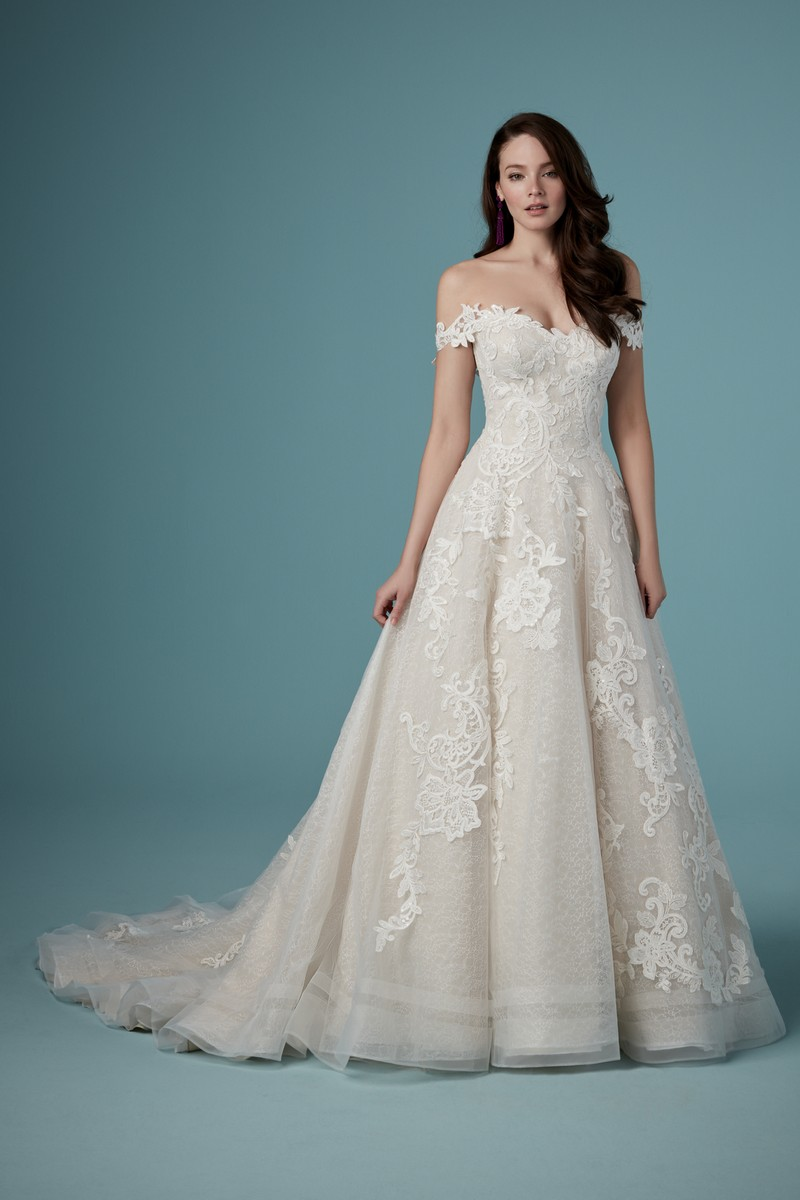 Paislee Louise Wedding Dress with Detachable Sleeves from the Maggie Sottero Ambrose Fall 2019 Bridal Collection