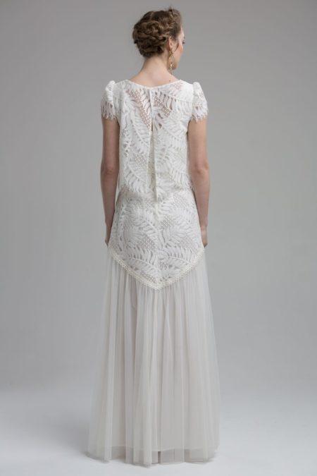 Back of Savannah Wedding Dress with Savannah Top from the KATYA KATYA Wanderlust 2018-2019 Bridal Collection