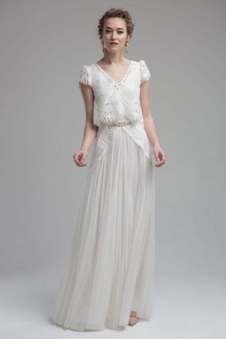 Savannah Wedding Dress with Savannah Top from the KATYA KATYA Wanderlust 2018-2019 Bridal Collection