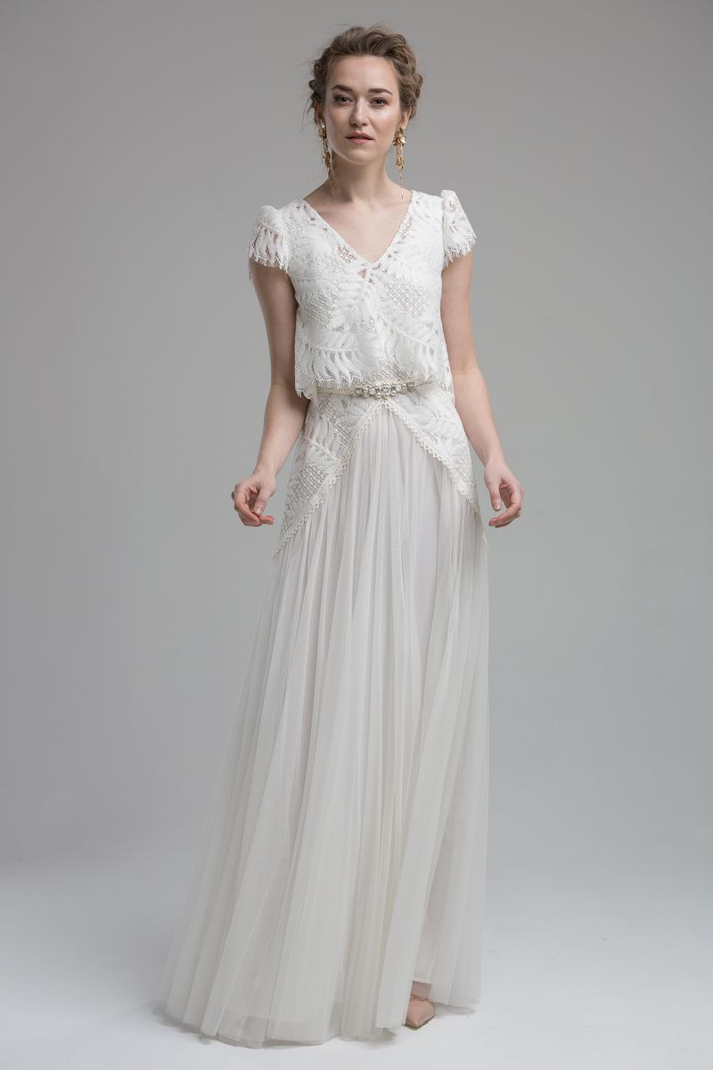 Savannah Wedding Dress with Savannah Top from the KATYA KATYA Wanderlust 2018-2019 Bridal Collection