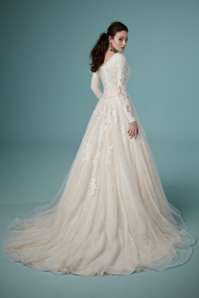 Back of Shiloh Leigh Wedding Dress from the Maggie Sottero Ambrose Fall 2019 Bridal Collection