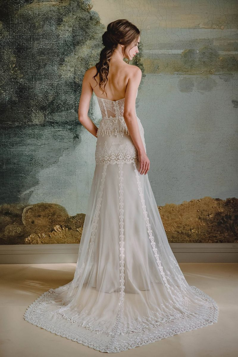 Back of Victoriana Wedding Dress from the Claire Pettibone Timeless Bride 2019 Bridal Collection