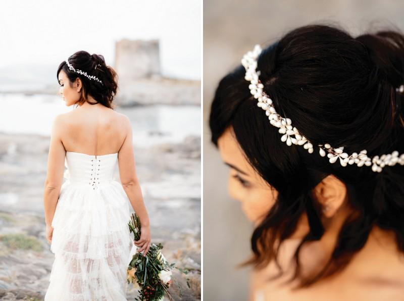 Boho bride's headband