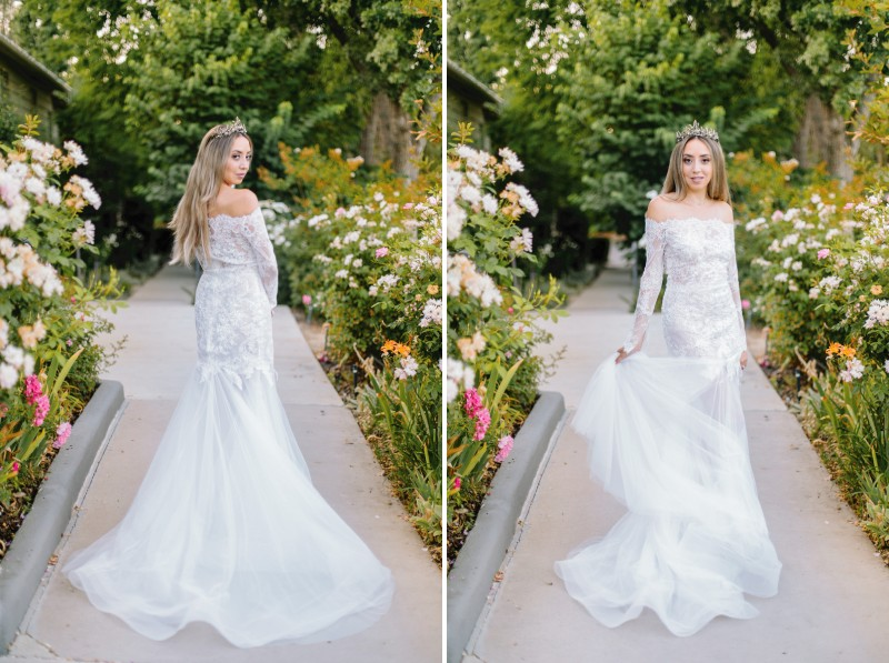Bride turning