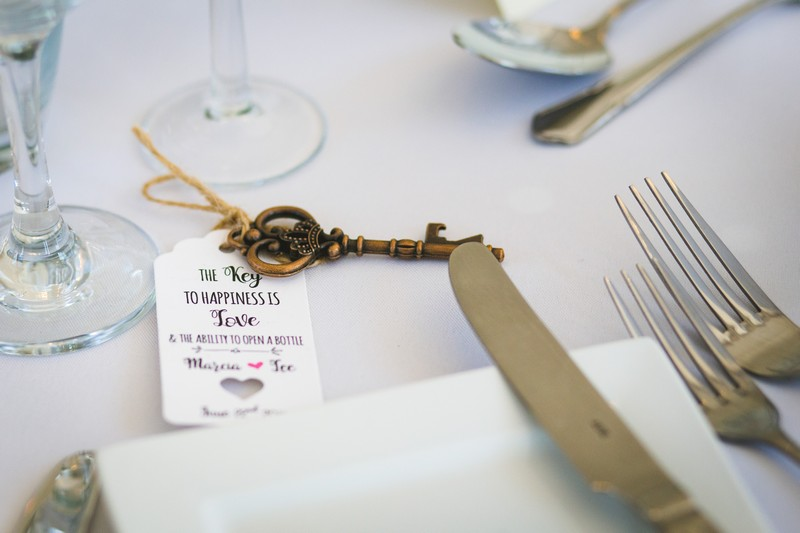 Key bottle opener wedding favour