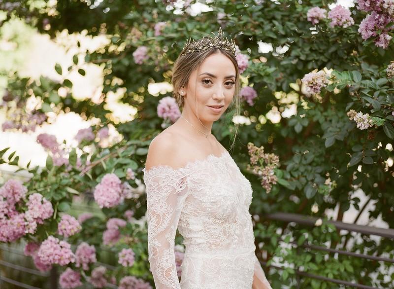 Bride wearing tiara