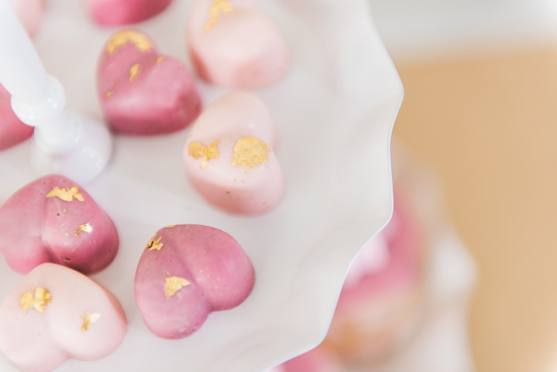 Pink heart sweets