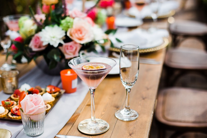 Drink on wedding table