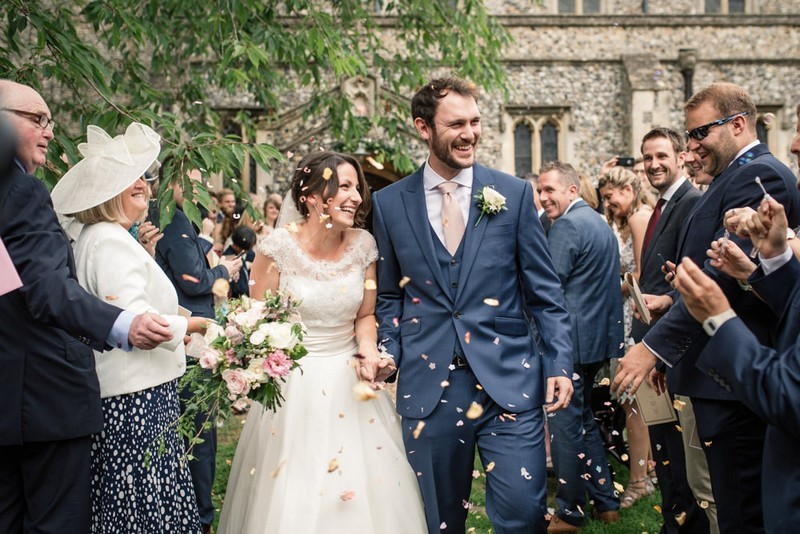Becky Harley Photography's favourite picture of wedding confetti moment
