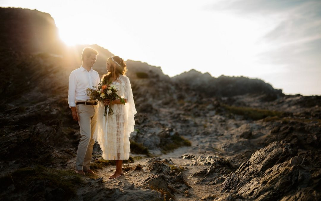 Boho Beach Elopement Styling in Sardinia