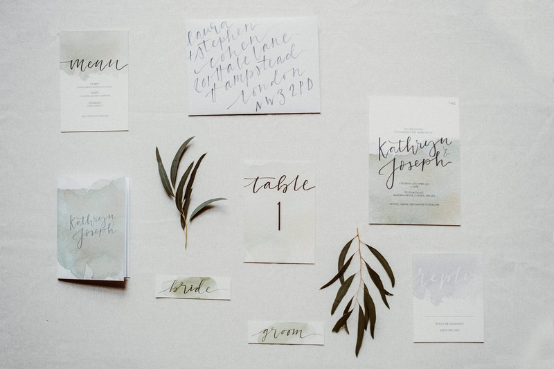 Botanical inspired wedding stationery