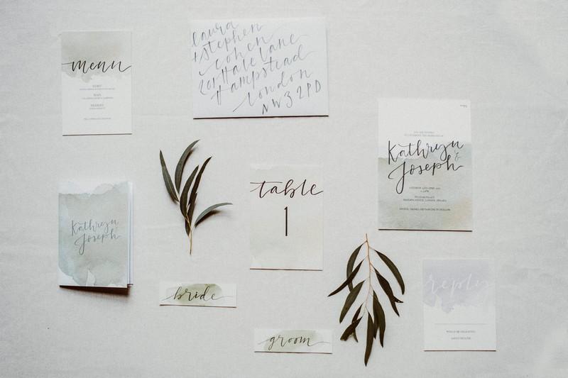 Botanical inspired wedding stationery