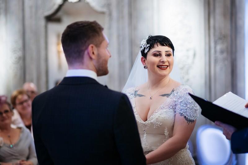 Wedding ceremony at Le Petit Chateau
