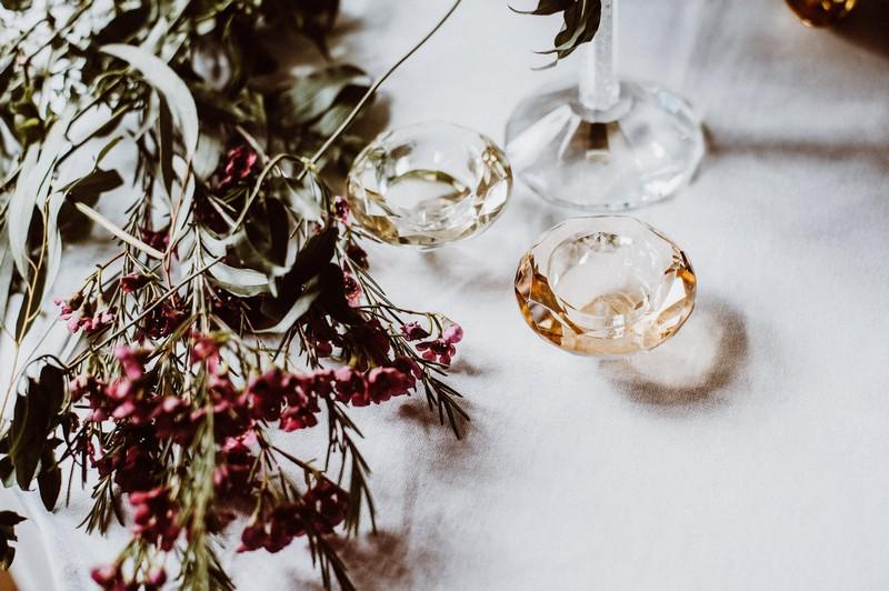 Tealight holders on wedding table