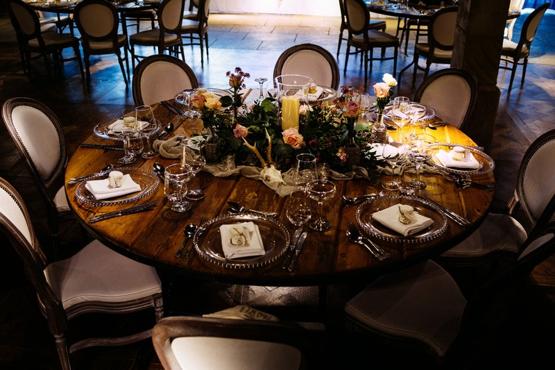 Wedding table in Le Petit Chateau