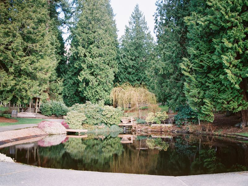 Pond in grounds of DeLille Cellars