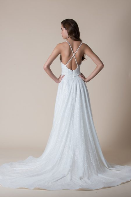 Back of Bettina Wedding Dress from the MiaMia Flying Down to Rio 2020 Bridal Collection