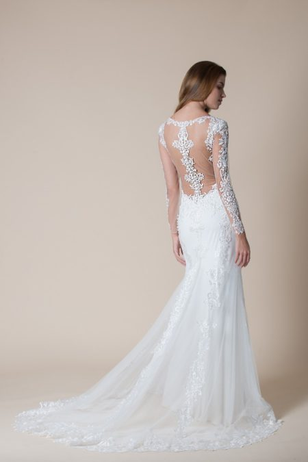 Back of Celeste Wedding Dress from the MiaMia Flying Down to Rio 2020 Bridal Collection