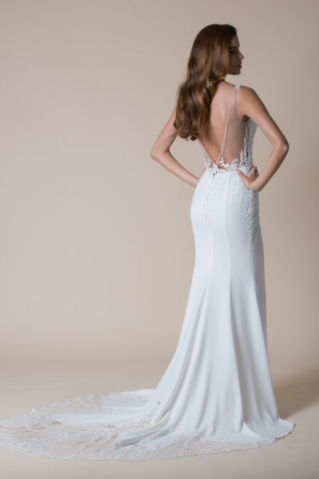 Back of Celine Wedding Dress from the MiaMia Flying Down to Rio 2020 Bridal Collection
