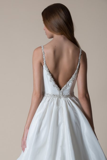 Back of Charity Wedding Dress from the MiaMia Flying Down to Rio 2020 Bridal Collection