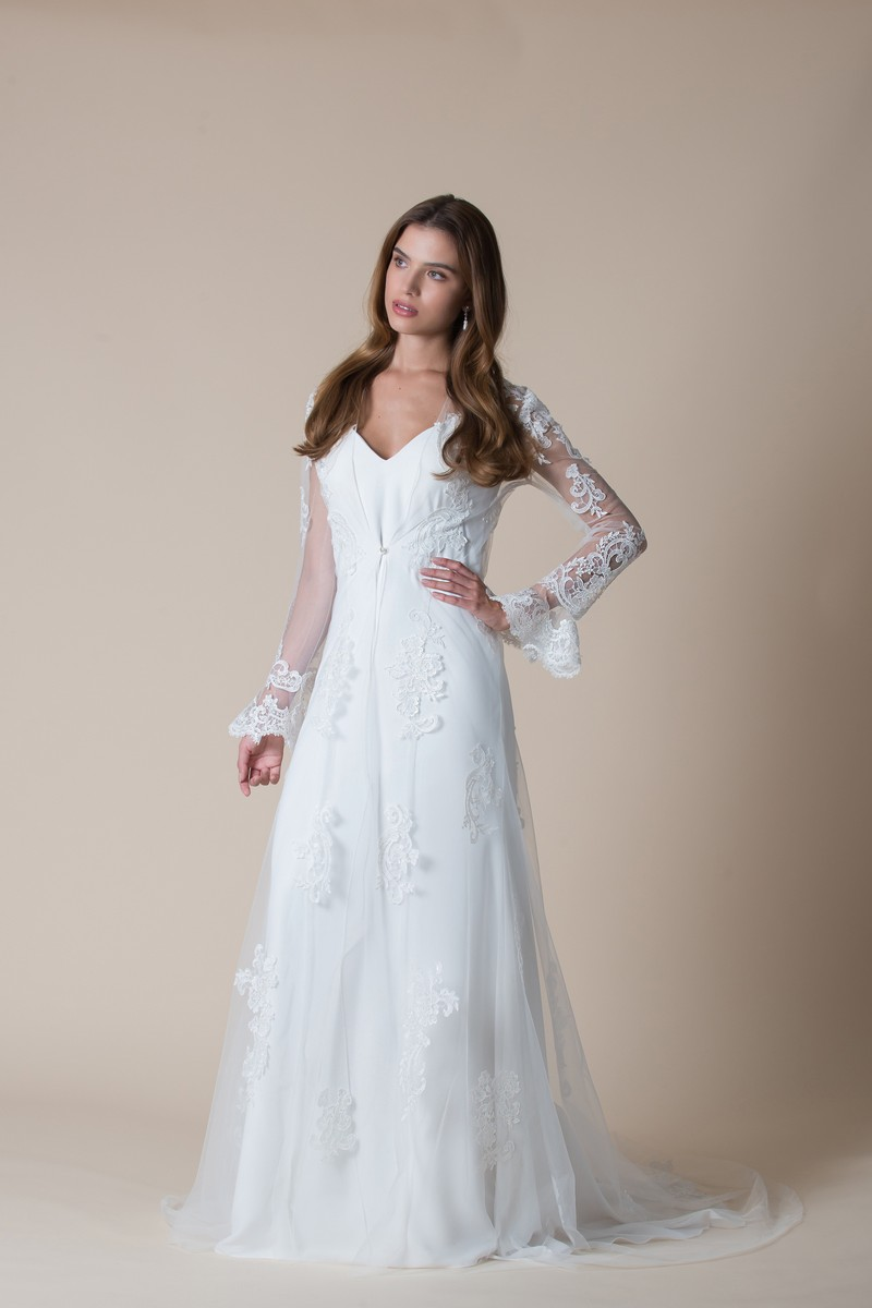 Eliza Wedding Dress with Coat from the MiaMia Flying Down to Rio 2020 Bridal Collection